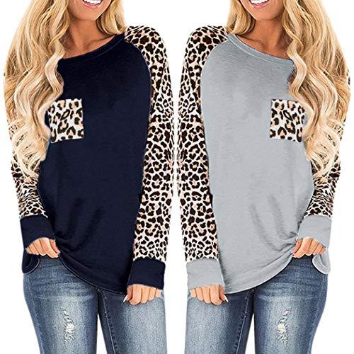 T-Shirt da Donna Manica Lunga leopardata