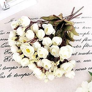 LbojailiAi Flor Artificial 1 unid 15 Cabezas Artificial Rosa Flor de Seda Camelia Peon¨ªa Ramo Fiesta decoraci¨®n de la…