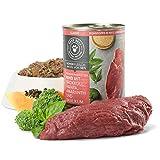 PETS DELI - NATURAL PET FOOD Hundefutter nass 2,4 kg - 6er-Pack | Premium-Qualität | Rind mit Brokkoli und Papaya | Nassfutter für Hunde mit 50% Fleischanteil | getreidefrei und ohne unnötige Zusätze