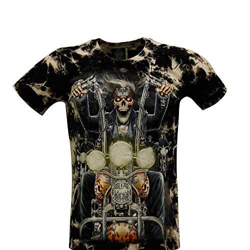 ROCK - Camiseta de Hombre y Mujer Blanco y Negro de algodón de...