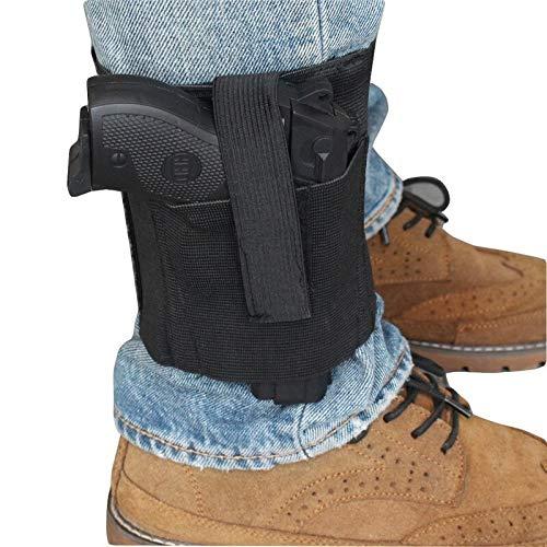 SHI-Y-M-QT, Universal-Knöchelholster Mit Haltehaken Schlaufenriemen Verdeckte Pistolen-Tragetasche Elastischer Sicherheitsriemen Revolvor Concealment Schwarz