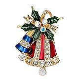 Scrox Kreative Weihnachten Brosche Mode Weihnachtsglocken Design Damen Kleidung Deko Juwel Design Schmuck Zubehör Brooch Mantel Hemd Deko Brosche Schmuck Zubehör Brooch