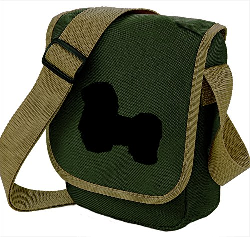 Bag Pixie ,  Unisex Erwachsene Umhängetaschen Black Dog Olive Bag