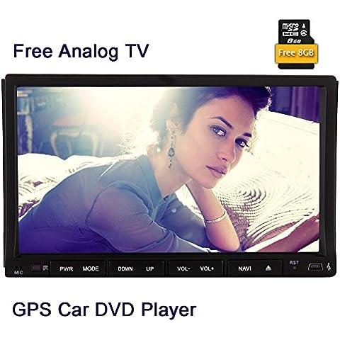 Libre de TV analógica! EinCar Doble Din 7