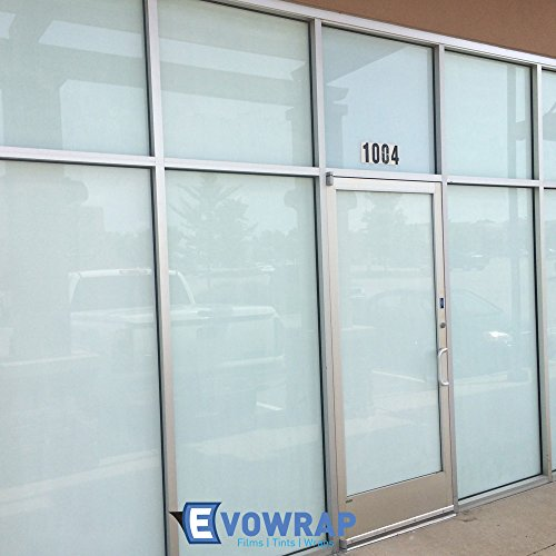 Luxico White or Black Opaque Total Privacy Window Film - Gloss Finish (100% Light Black-Out) 24 Hour Total Privacy Window Tint (76cm x 1 metre - 5 metres) (White, 76cm x 5m)