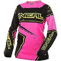 O'Neal Element Racewear Damen Jersey Schwarz Pink MX MTB DH Trikot Motocross Offroad, 0028-70