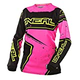 O'Neal Element Racewear Damen Jersey Schwarz Pink MX MTB DH Trikot Motocross Offroad, 0028-70, Größe L