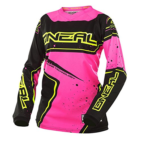 O\'Neal Element Racewear Damen Jersey Schwarz Pink MX MTB DH Trikot Motocross Offroad, 0028-70, Größe L