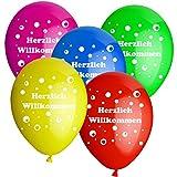 10 Luftballons d:30cm HELIUM GEEIGNET HERZLICH WILLKOMMEN