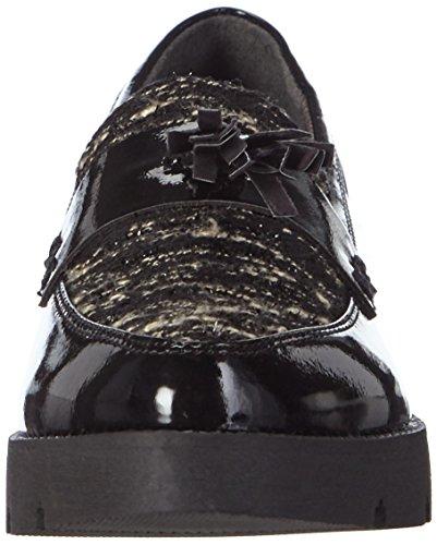 Tamaris - 24346, Scarpe chiuse Donna Multicolore (Mehrfarbig (Black Pat.Comb 070))