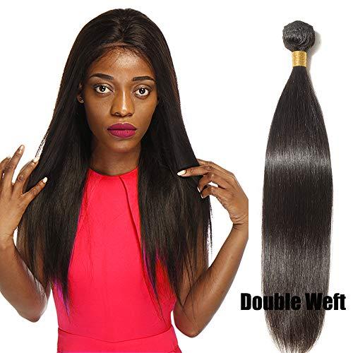 Extension tessitura capelli veri matassa lisci brazilian virgin human hair straight 100% remy 1 bundle nero naturale - 25cm 100g