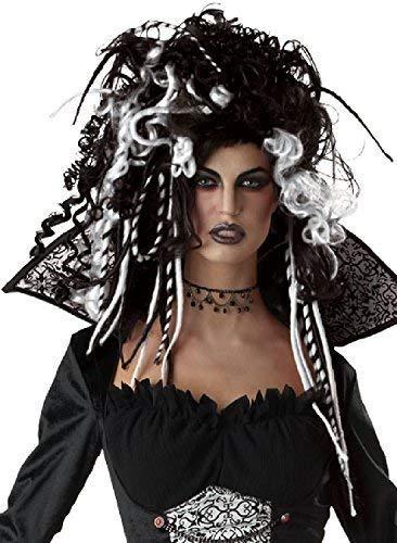 Fancy Me Erwachsene Damen Schwarz Weiß Corpse Bride Vampir Rastalocken Dreadlock Lockig Wild Halloween Horror Unheimlich Kostüm Kleid Outfit Perücke...