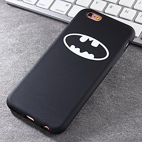 SeaDream custodia Interessante logo batman ()(iPhone 6/4.7,Nero)