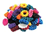 #9: Ram Mali Pack Of 100 Small Ponytail Hair Rubber Band Holder For Kids/Girls/Women (Random Colours)