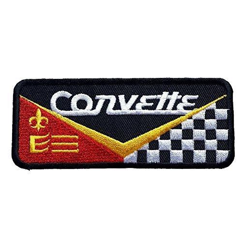 Corvette Toppa da applicare con ferro da stiro, da cucire su abiti per auto Chevrolet Logo Clothing moto, design di Graphic-polvere - Moto Graphic Design