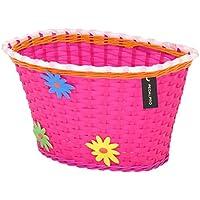 PedalPro - Cesta de flores para bicicleta infantil - Rosa