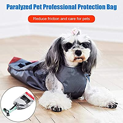 EliteMill Drag Bag for Paralyzed Pets,Dog Drag Bag,Paralyzed Pets Drag Bag Durable Nylon Anti-scratch Pouch Protect Dog Chest Limbs from EliteMill
