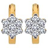 Myzevar 14K Yellow Gold and Diamond Floria Huggie Earrings best price on Amazon @ Rs. 17206
