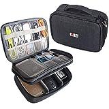 BUBM Doppi Strati Gadget Organizzatore di Viaggi Case, Elettronica Accessori Bag(Medio, Nero)