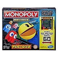 لعبة مونوبولي اركيد باك مان، لعبة لوحة مونوبولي للاطفال من سن 8 سنوات فما فوق؛ تتضمن وحدة البنوك والممرات
