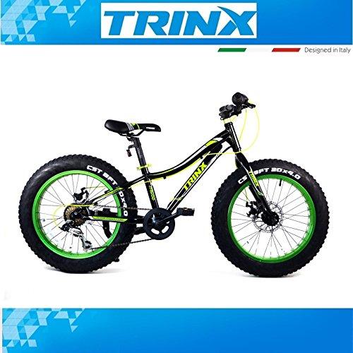 fatbike Mountain Bike Bicicleta juvenil infantil trinx T100MTB 20pulgadas 7velocidades Shimano