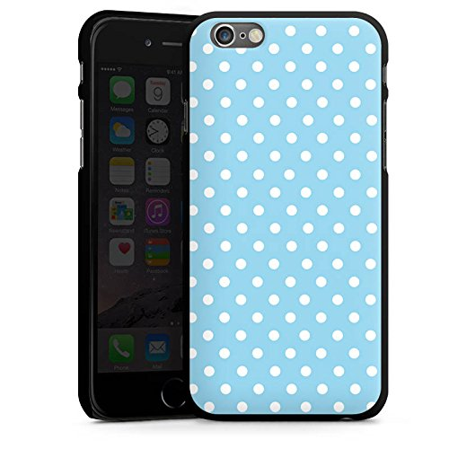 Apple iPhone 5 Housse Étui Protection Coque Points Motif bleu blanc Polka CasDur noir