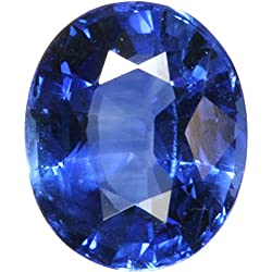 S Kumar Gems & Jewels Neelam Stone Original Certified Natural Blue Sapphire Gemstone 11.25 Ratti