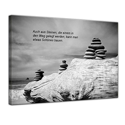 Bilderdepot24 Leinwandbild mit Zitat – Etwas schönes Bauen – (Unbekannt)