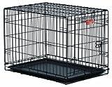 Midwest iCrate Single-Door Pet Crate 18 x 12 x 14 - inches (Satin Black E-Coat)