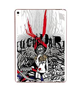 Fiobs Designer Back Case Cover for Apple iPad Pro (9.7 Inches) (Lady Girl Rock Rockig)