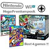 Nintendo Wii U Premium Pack 32Go + Mario Kart 8 + Splatoon + Super Mario & Luigi U - Mega Pack 4 jeux!