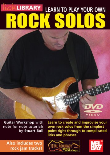 LICK LIBRARY   LEARN TO PLAY YOUR OWN ROCK SOLOS REINO UNIDO DVD
