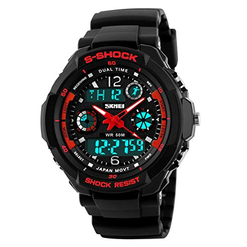 Herren outdoor wandern wasserdichte digitale Uhren/Jungen Multifunktions Taucheruhren-D