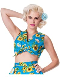 Hell Bunny Top SUNRISE TOP turquoise