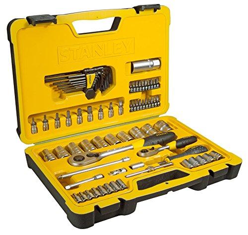 Preisvergleich Produktbild Stanley Steckschlüsselsatz-Set, 75-teilig, 1/2 und 1/4 Zoll, 1 Stück, STHT0-73927