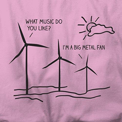 Ich bin ein großer Metal Fan lustiges Musik-Festival Pun-Witz Herren T-Shirt Sky Blue