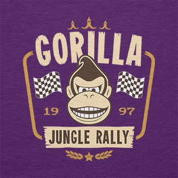 TEXLAB - Gorilla Jungle Rally - Herren T-Shirt Violett