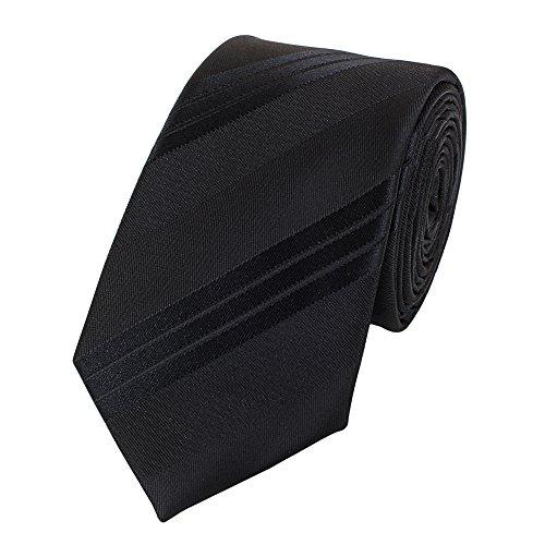 Fabio Farini Étroit Cravate de en noir