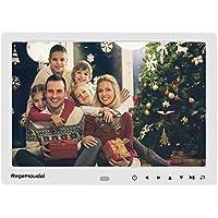 Digitaler Bilderrahmen, RegeMoudal 12 Zoll 1280x800 HD Ultra Slim Breitbild mit Fernbedienung, Unterstützt 32G SD und USB und Multi-Format für Video Musik FotoBilder und Videos
