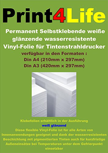 15-feuilles-de-format-a4-270um-150g-m-adhesif-feuille-jet-dencre-adhesif-permanent-vinyle-brillant-b