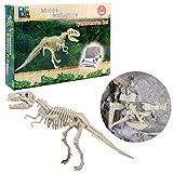 MAJOZ Dinosaurier-Archäologie-Aushöhlungs-Spielwaren Kreatives pädagogisches Spielzeug Archaeology Excavation Toys für Kinder-Tyrannosaurus