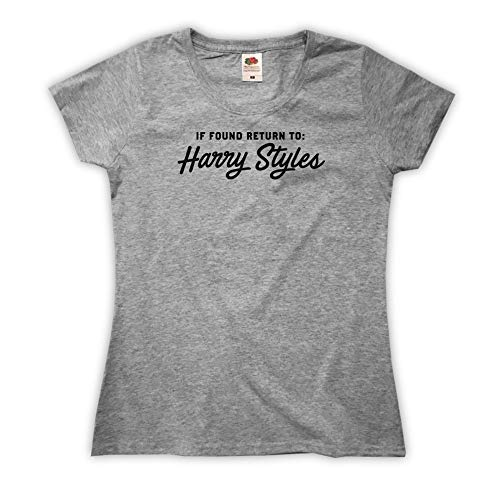 Outsider. Damen If Found Return to Harry Styles T-Shirt - Grau - X-Small