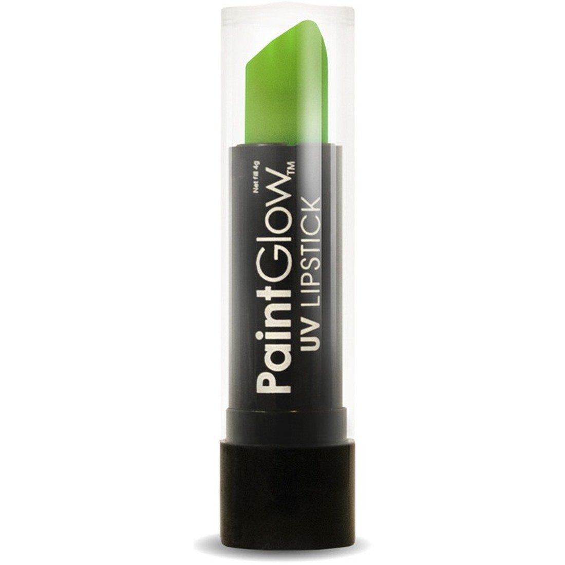 Stick labbra fluorescente - verde | Rossetto UV 4 grammi | Trucco fluorescente carnevale | Make Up p