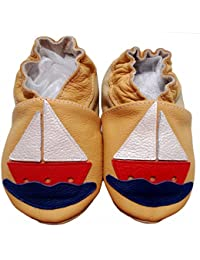 """""""In the Navy"""" de BBKDOM- Chaussons bébé et enfant en cuir souple de qualité supérieure Fabrication Européenne de 0-5 ans"""