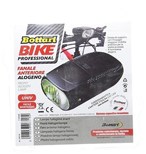 Bottari Fahrradbeleuchtung vorne Halogenlampe für Fahrrad–Schwarz