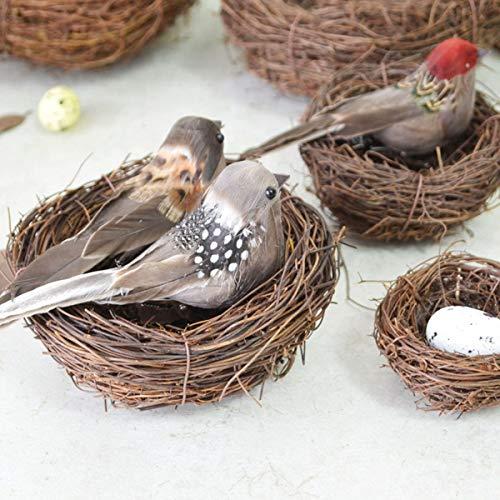 RanDal 12Pcs Clip Vintage Cute Bird Feather Christmas Tree Festival Bauble Geschenkdekorationen