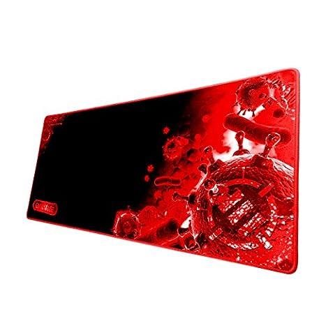ENHANCE Tapis de Souris Gaming XL Surface Tissu Anti-Friction & Base Antidérapante Mouvement Fluide Parfait pour Vos Souris Gamer Topop , VicTsing , Razer Mamba , Logitech -