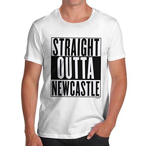Herren Straight Outta Newcastle T-Shirt Weiß