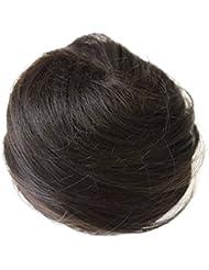 PRETTYSHOP Bun Updo postiche, ruban de cheveux, queue de cheval, extensions cordon, Chouchoubrun foncé # 4 DC11