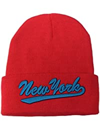 f7548de1 New Unisex Turn Up Knit Winter Wooly Beanie Hat With New York Logo